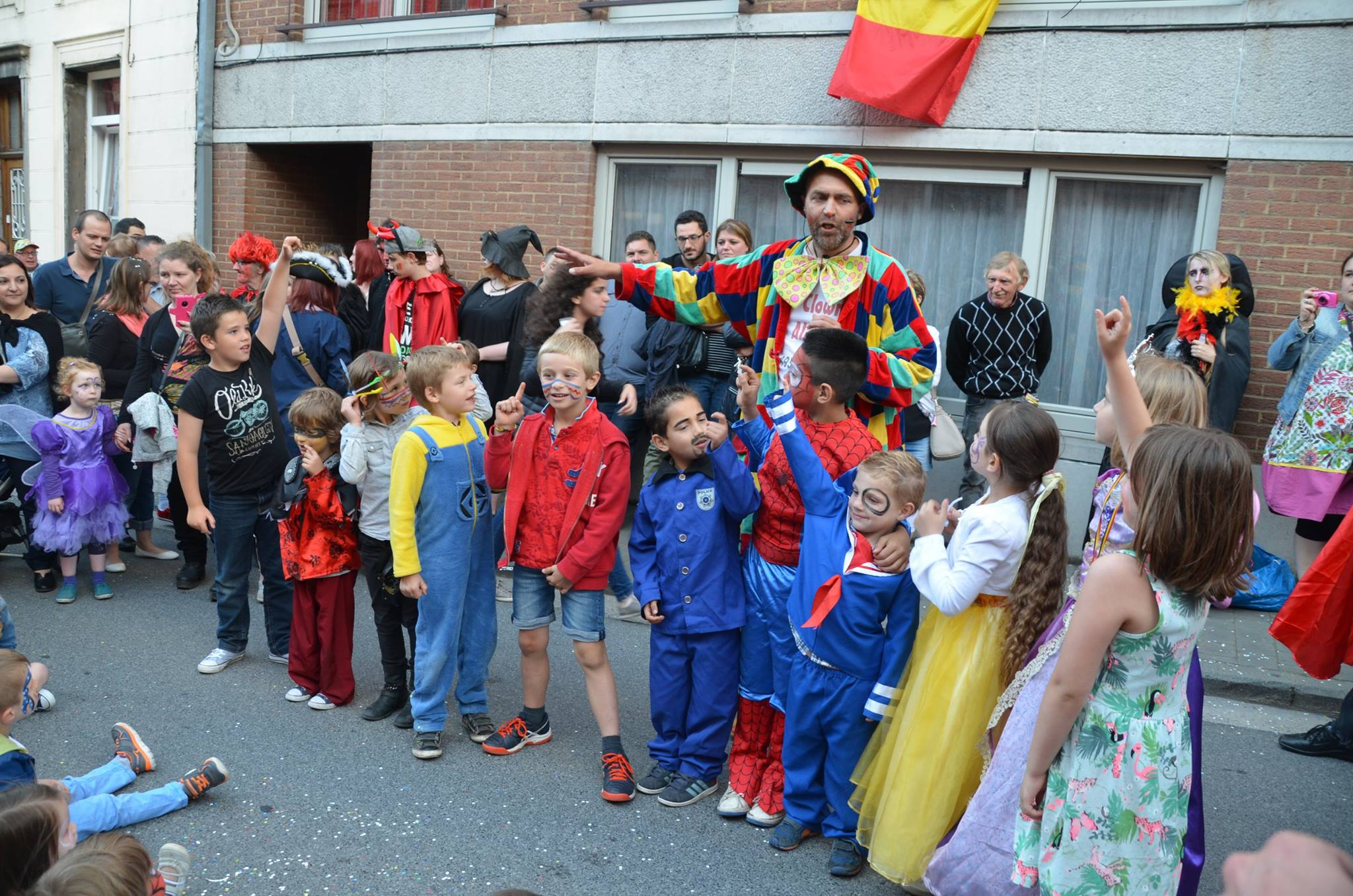 Carnaval du Roeulx, spectacle de clown